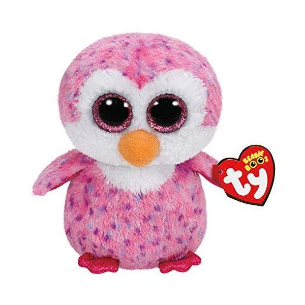 Plus Boos, Glider Pinguinul Roz TY, 15 cm, 3 ani+