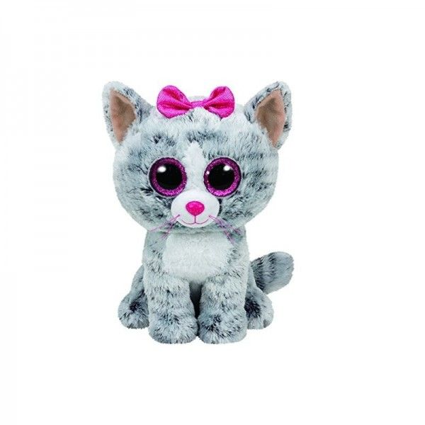 Plus Boos, Kiki Pisica Gri TY, 24 cm, 3 ani+