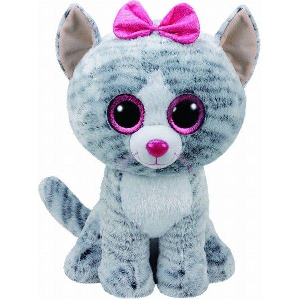 Plus Boos, Kiki Pisica Gri TY, 42 cm, 3 ani+