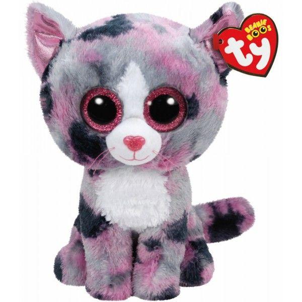 Plus Boos, Lindi Pisica Roz TY, 24 cm, 3 ani+