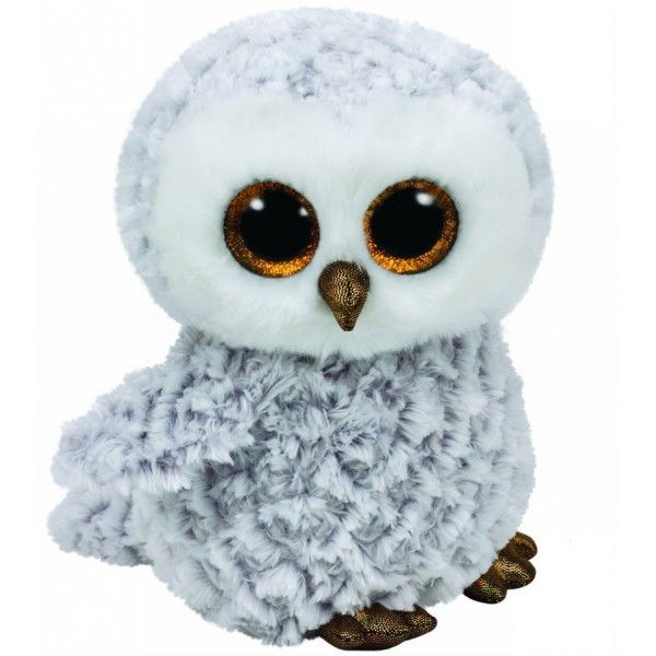 Plus Boos, Owlette Bufnita Alba TY, 24 cm, 3 ani+