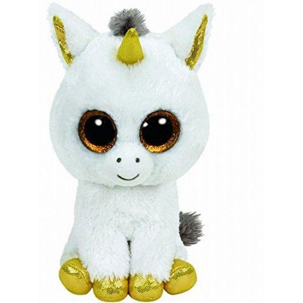 Plus Boos Pegasus Unicorn Alb TY, 15 cm, 3 ani+