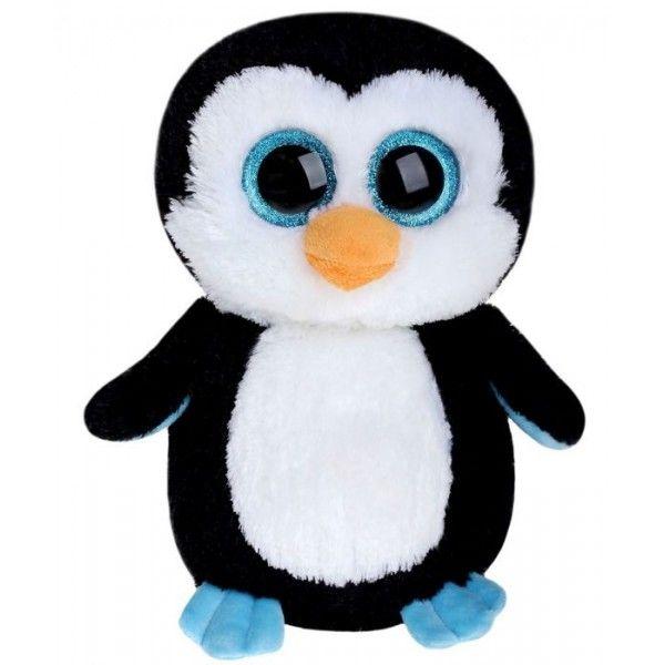 Plus Boos, Pinguinul Waddles  TY, 24 cm, 3 ani+