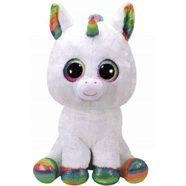 Plus Boos, Pixy Unicorn Alb TY, 42 cm, 3 ani+