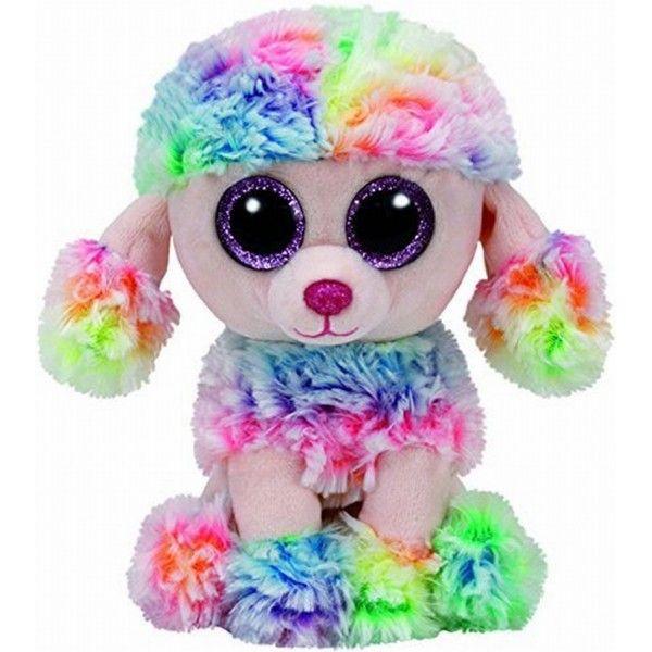 Plus Boos Poofie Pudel Multicolor TY, 15 cm, 3 ani+