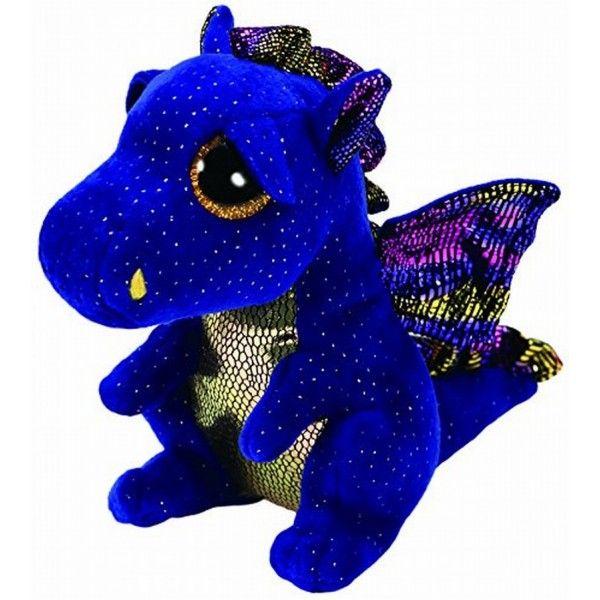 Plus Boos, Saffire Dragon TY, 24 cm, 3 ani+