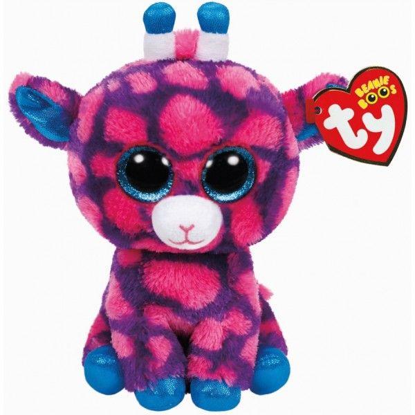 Plus Boos, Sky Girafa Roz TY, 24 cm, 3 ani+