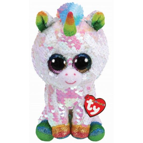 Plus Boos, Unicornul Pixy Cu Paiete TY, 24 cm, 3 ani+
