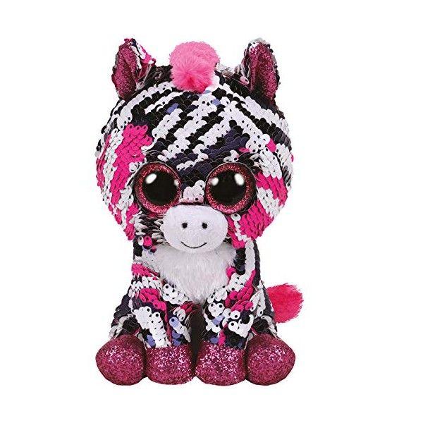 Plus Boos, Zebra Zoey Cu Paiete TY, 15 cm, 3 ani+