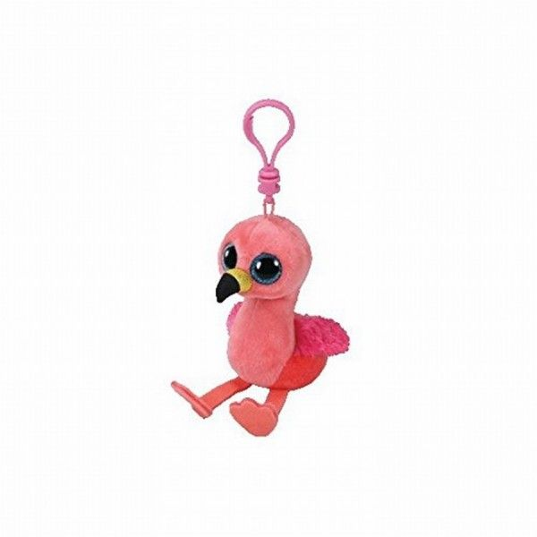 Plus Breloc, Boos Gilda Flamingo TY, 8.5 cm, 3 ani+