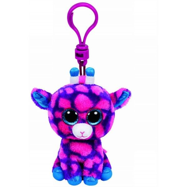 Plus Breloc, Boos Girafa Roz Sky High TY, 8.5 cm, 3 ani+
