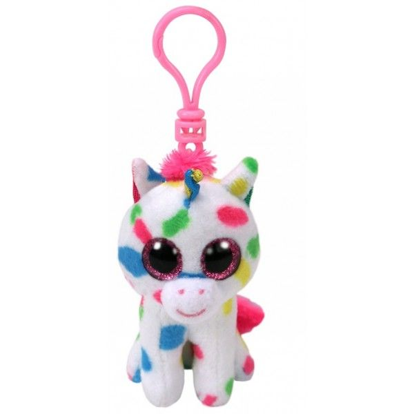 Plus Breloc, Boos Harmonie Unicornul Cu Buline TY, 8.5 cm, 3 ani+