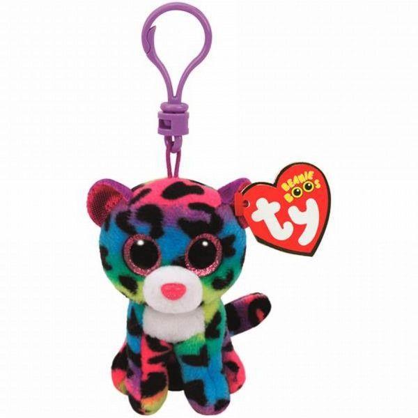 Plus Breloc,  Boos Leopard Multicolor TY, 8.5 cm, 3 ani+