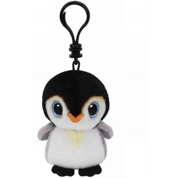 Plus Breloc Boos, Pinguin Pongo TY, 8.5 cm, 3 ani+