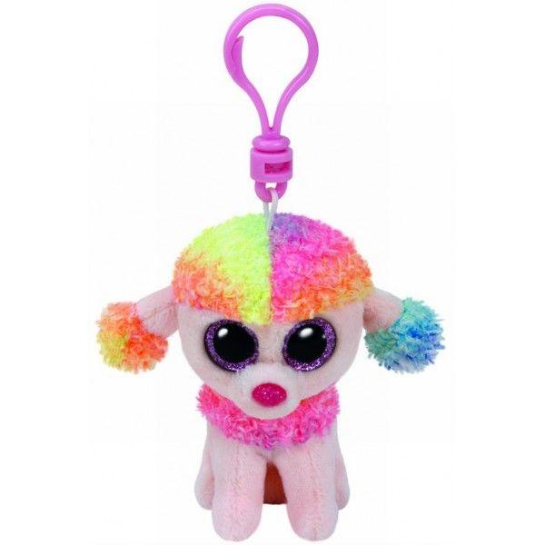 Plus Breloc, Boos Rainbow Pudel TY, 8.5 cm, 3 ani+