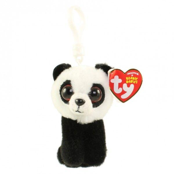 Plus Breloc Boos, Ursulet Panda TY, 8.5 cm, 3 ani+