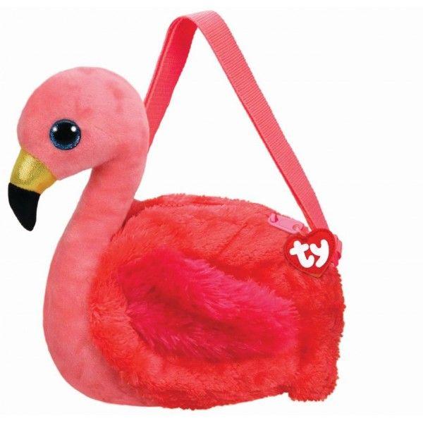 Gentuta De Umar Din Plus, Flamingo Gilda TY, 15 cm, 3 ani+