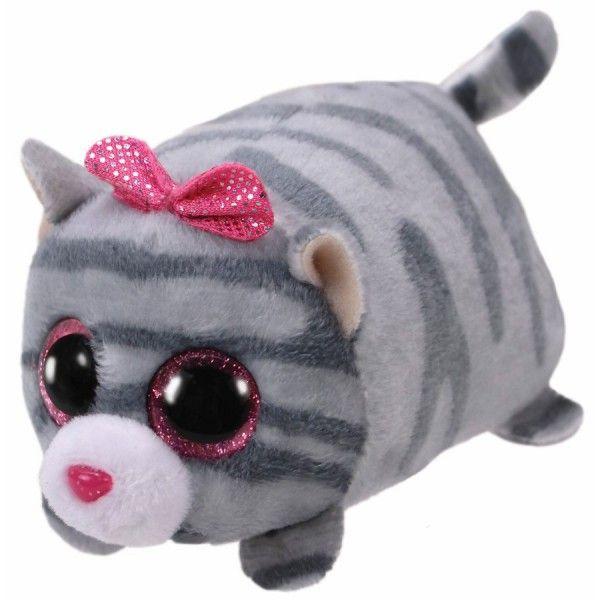Plus, Teeny Tys Cassie Pisica Gri TY, 10 cm, 3 ani+