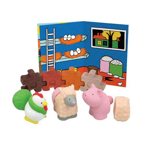 Set forme Popbo Animale de la ferma K's Kids