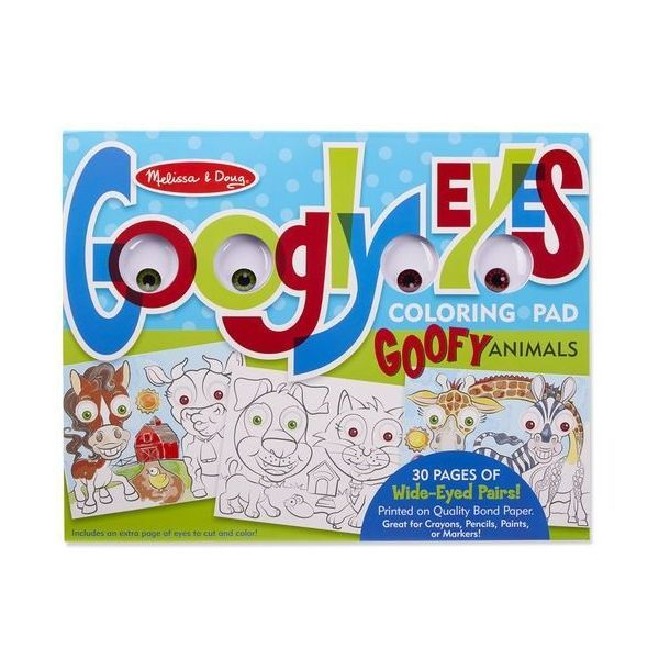 Bloc de colorat Animale Caraghioase Melissa & Doug, 4 ani+