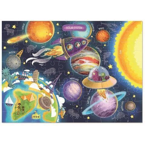 Puzzle Spatiul cosmic Dodo, 100 piese, 6 ani+
