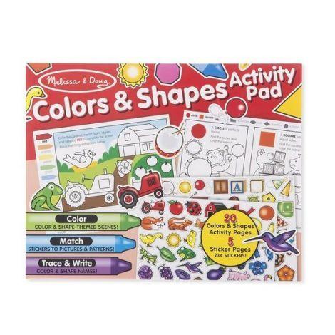 Bloc activitati Forme si culori Melissa & Doug, in engleza, 4 ani+
