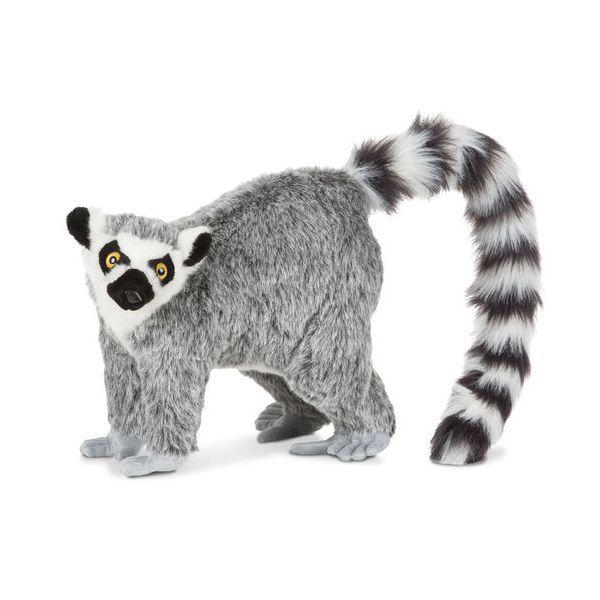 Lemur Gigant plus Melissa & Doug, 36 cm, 3 ani+