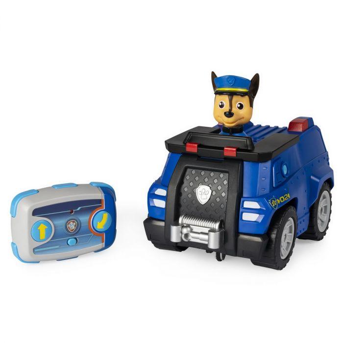 Patrula Catelusilor Chase si Masina de Politie Spin Master, cu telecomanda, 4 ani+