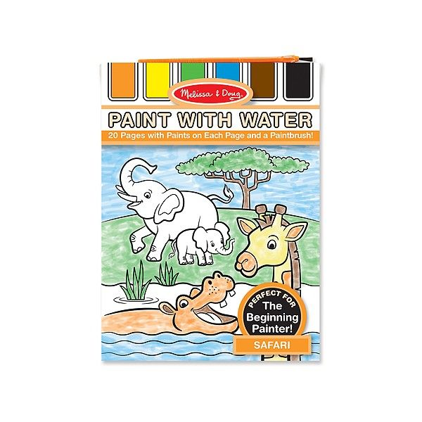 Set pictura cu apa Safari Melissa & Doug, 3 ani+