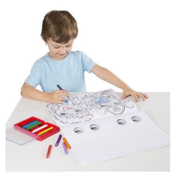 Bloc de colorat Mutrite Caraghioase Melissa & Doug, 4 ani+