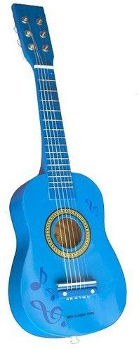 Chitara New Classic Toys, din lemn, 36 luni+, Albastru