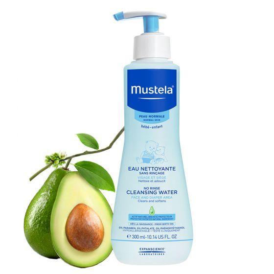 Apa de curatare fara clatire Mustela, piele normala, 300 ml