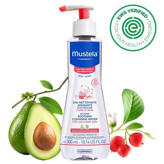 Apa de curatare fara clatire Mustela, piele sensibila, 300 ml