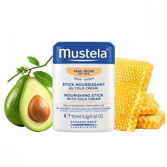 Hydra-stick cu Cold Cream Mustela, piele uscata, 10 g