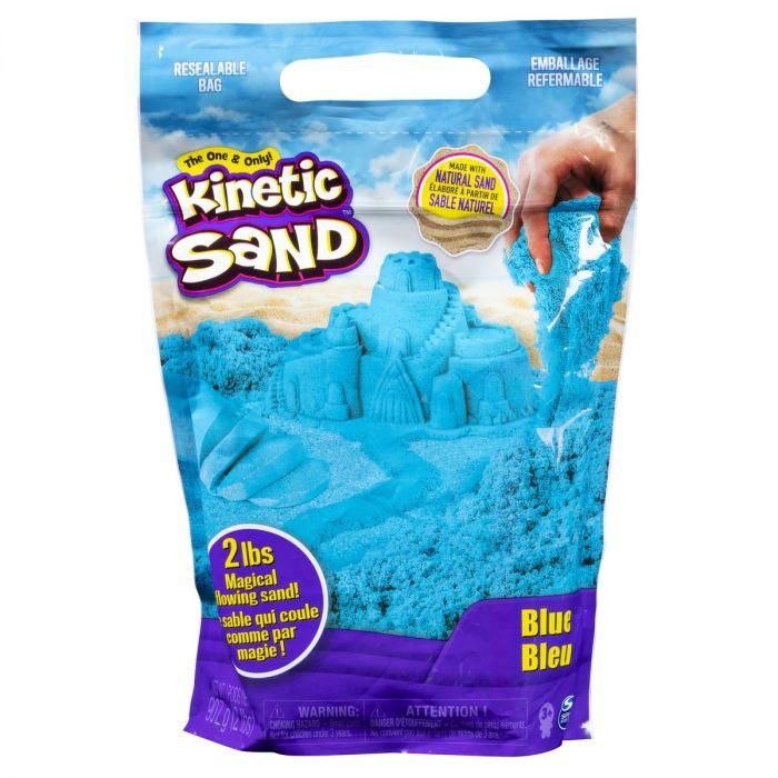 Nisip Kinetic Sand Spin Master, 900 gr, Albastru