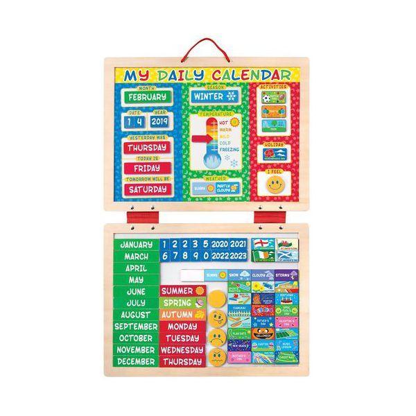 Calendar magnetic Activitatile zilnice Melissa & Doug, 3 ani+
