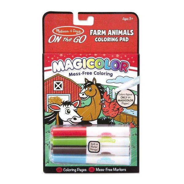 Carnetel Magicolor Animale la ferma Melissa & Doug, 3 ani+