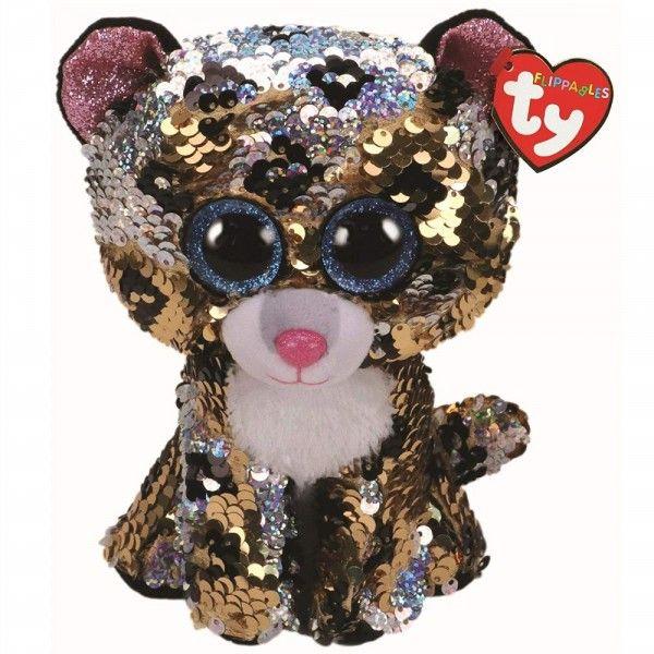 Plus Boos, Leopardul Sterling Cu Paiete TY, 15 cm, 3 ani+