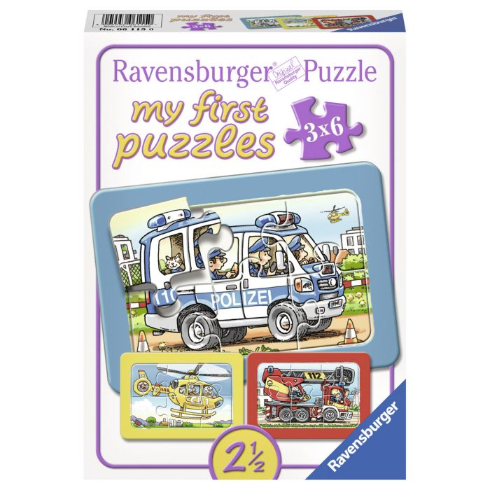Primul meu puzzle de politie 3 x 6 piese Ravensburger