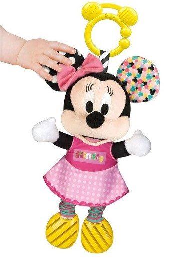 Jucarie carucior De Plus Minnie Mouse Clementoni, zornaitoare, 6 luni+