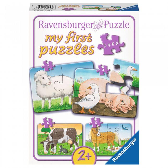 puzzle pentru copii ravensburger animale de la ferma