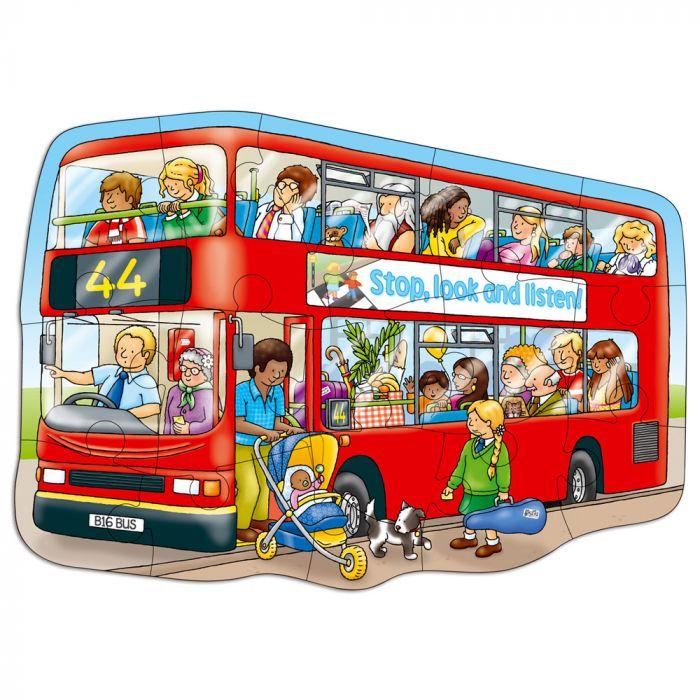 puzzle autobus 15 piese carton