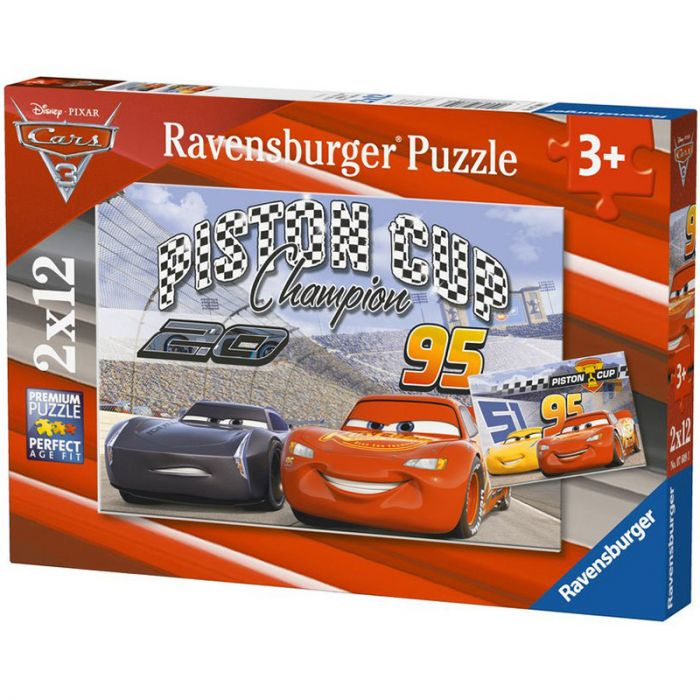 Puzzle Cars 2 x 12 piese Ravensburger