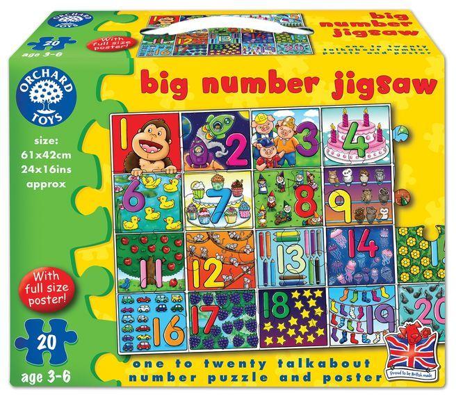 Puzzle de podea Invata Numerele de la 1 la 20 Orchard, 36 luni+