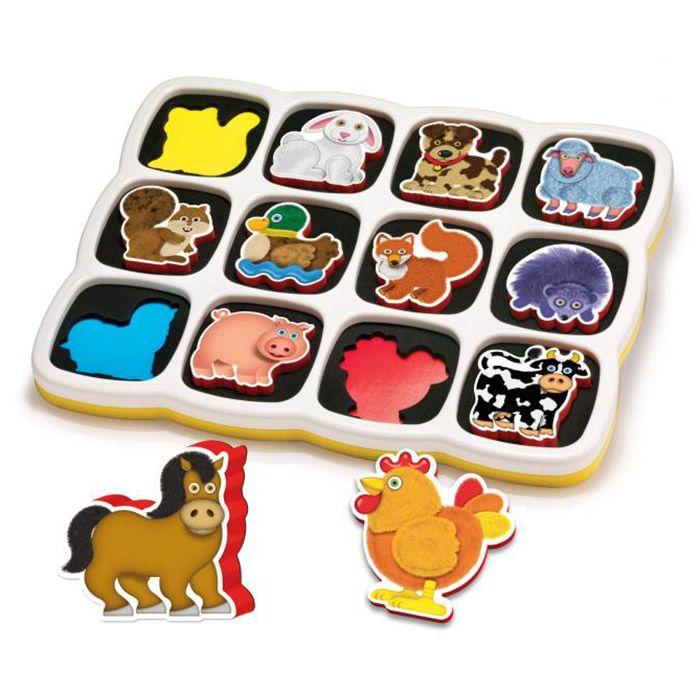 Puzzle magnetic animale domestice 12 piese Quercetti