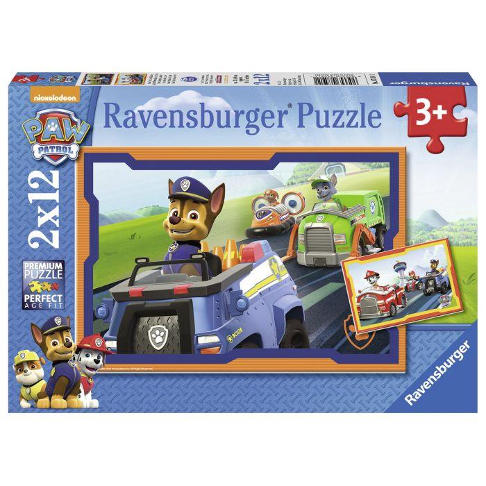 Puzzle Patrula catelusilor 2 x 12 piese Ravensburger