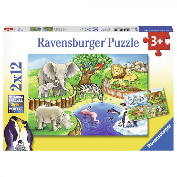 Puzzle Zoo 2 x 12 piese Ravensburger