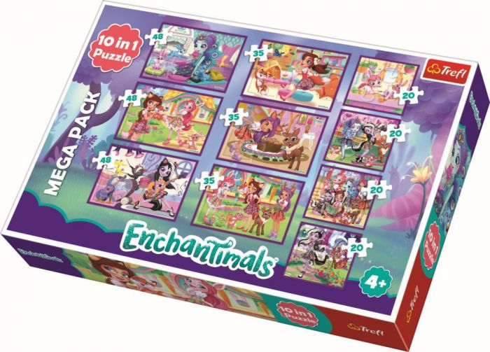 Puzzle 10 in 1 Aventurile Enchantimals Trefl, 329 piese, 4 ani+