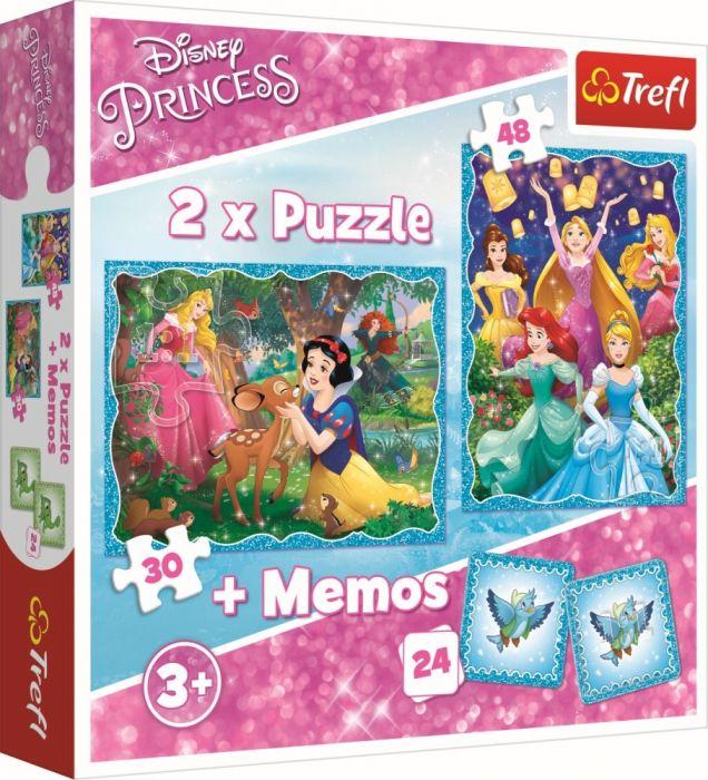Puzzle 2 in 1 Memos Minunata lume a printeselor Trefl, 3 ani+