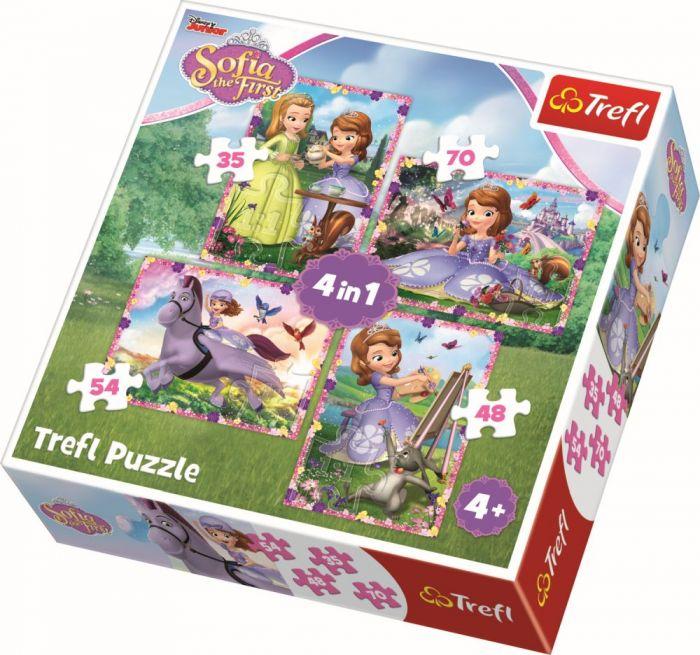 Puzzle 4 in 1 Lumea Sofiei Trefl, 207 piese, 4 ani+